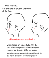 Eye positioning on a face in sideview by CrystalClair