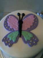 Little Butterfly Cake- close up by Spudnuts