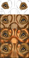 Dog Eyes Art Progession for Tracking Fire by WolfScribe