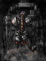 Cyborg Speed Painting by La-SaGnE