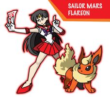 Sailor Flareon by ObsidianWolf7