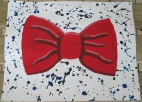Bowtie Splatter in Acrylics by Who-Butt