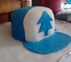 Dipper Hat Cake by Imaplatypus