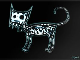 X-ray a Cat Newton by Migel-Grase