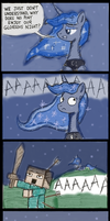 Princess Luna's Question in Minecraft by zxcvsaw