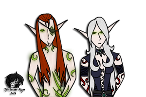 Lur'kai and Shad'ara colored by The-Serene-Mage