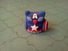 Captain America Owl - Captain Hoot Figure by TheOwlsRoost