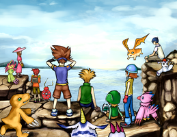 digimon by ZeeKayArt