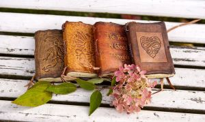 Autumn Leather Books by gildbookbinders