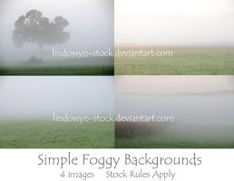 Simple Foggy Backgrounds Pack by lindowyn-stock
