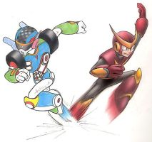Quickman vs Turboman by Quickman012