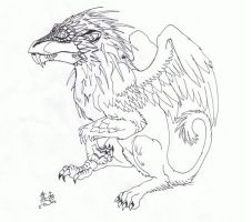 the very first griffen by Ooh-A-piece-of-Candy