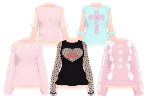 [MMD]Shirt pack[+DL] by Lhixx