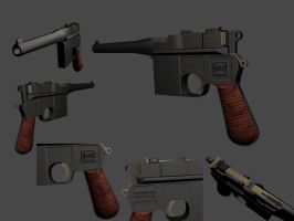 Mauser C96 by bloodfilledlungs