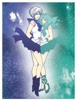 .Sailor Uranus + Neptune. by Sugar-Bones-Loli