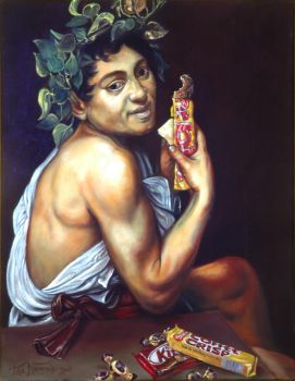 Sick Bacchus w candy by Kulik