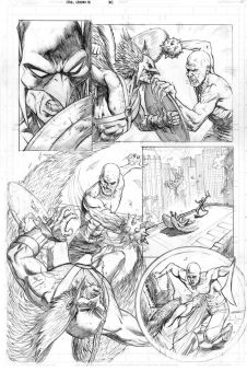 Hawkman Page 1 Pencils by craigcermak