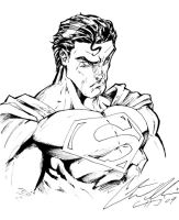 Superman quick sketch: Inks by CdubbArt