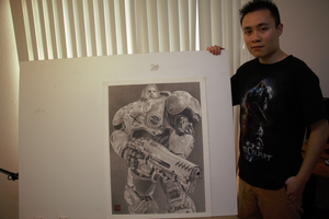 Jim Raynor Pencil Drawing by yipzhang5201314