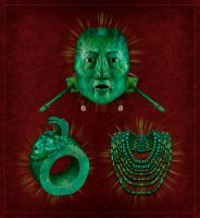 king pakal's tomb jade jewels by AlMaNeGrA