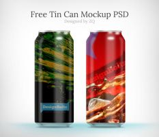 Free Tin Can Mock up psd by Designbolts
