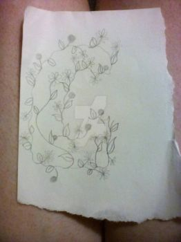 C with vine design by Evanescence1995