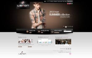 Lefon Company Web Interface Design by mansonloverz