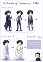 BBC SH - Evolution of Sherlock's clothes by Tenshi-no-Hikari