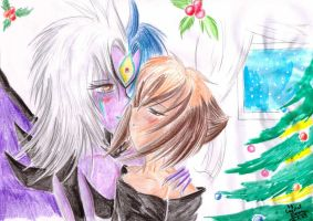 Christmas for Yubel and Juudai by Crystal-Dream