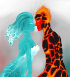 Where Fire and Ice Collide by FlyawayHeart