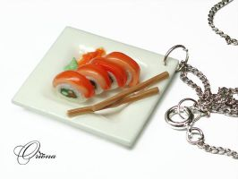 Pendant 'Rolls' 4 by OrionaJewelry