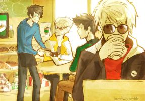 cafe by loonytwin