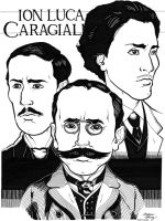 Ion Luca Caragiale caricatures by silentsketcher