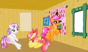 Cutie mark crusaders - post punishmeant by Passionateshadow