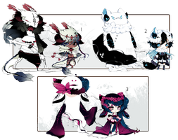 [CLOSED] ADOPT AUCTION 160 - Shadowmonsters by Piffi-adoptables