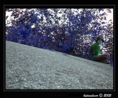 sitting on the grave by hutsonlover
