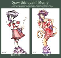 Hehe! Before and after by Punisa