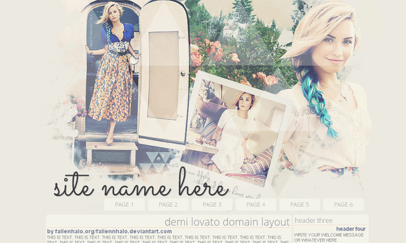 Demi Lovato Domain Layout by FallennHalo