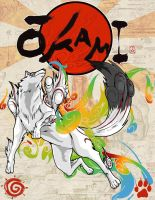 Okami cover type by Sakuseii