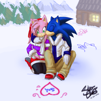 Secret Santa: SonAmy by SanctifiedVengeance
