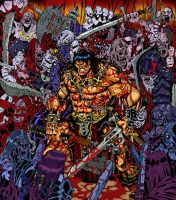 Conan Versus Undead Army by BongzBerry