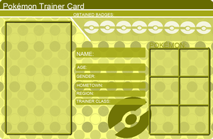 Pokemon Trainer Card Template Yellow by khfanT