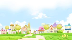 Village Background 1 by CARFillustration