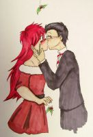 Christmas Gift - Grell and William by BleachedKitten