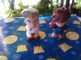 Professor Oak and Gary Oak Figurines by davyjonesentei123