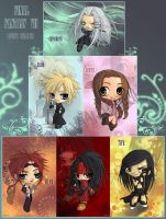 Final Fantasy VII AC Chibis by Ellana01