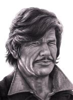 CHARLES BRONSON     BnW SMALLER  2 by RodgerHodger