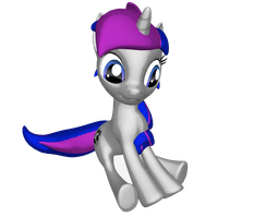 Yay me in 3D woohoo ^^ by MLPBlueRay