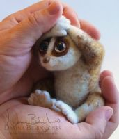 Felted Slow Loris by FamiliarOddlings