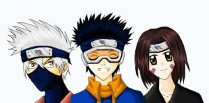 Kakashi, Obito, Rin by Mika221